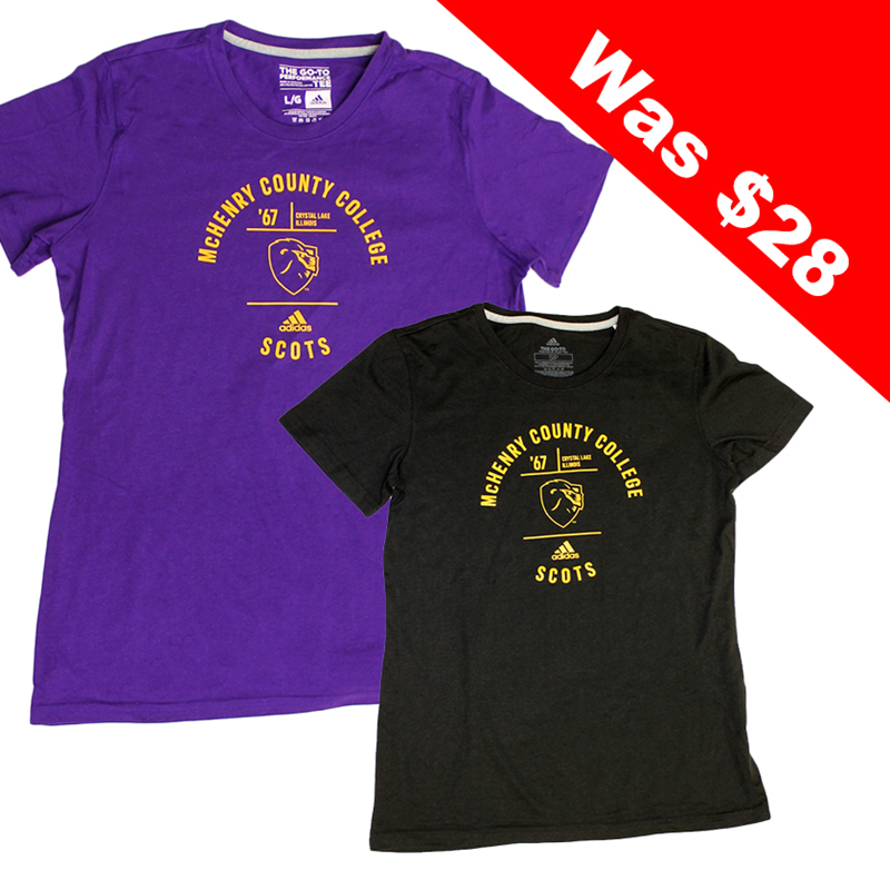 Adi Emblem Too Womens Tee | McHenry County College Bookstore