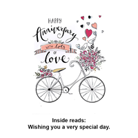 Greeting Card Anniversary Bike