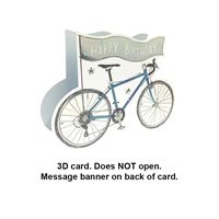 Greeting Card Bicycle Birthday