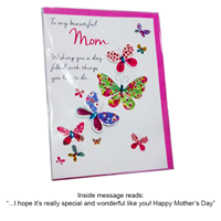 Greeting Card Mothers Day - Beautiful Mom