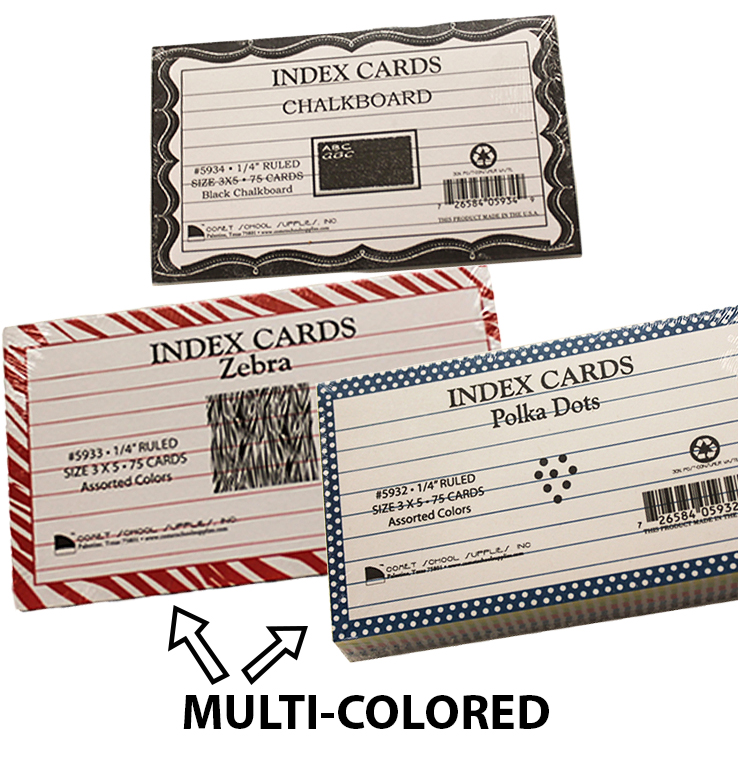 Index Cards With Borders (SKU 1026012847)