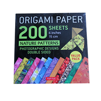 Origami paper 200 sheets - Nature Patterns