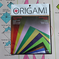 Origami paper asst 55 sheets - Small