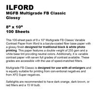 PHOTO PAPER ILFORD 8X10 GLOSSY 100CT