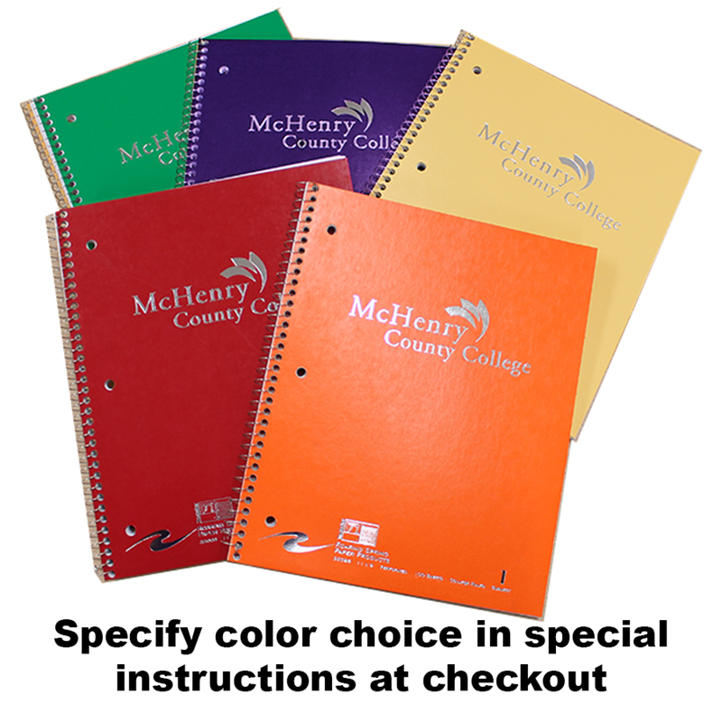 Assorted colors MCC Spiral notebooks (SKU 1003322747)