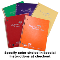 Assorted colors MCC Spiral notebooks